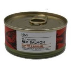 Marks and Spencer Wild Alaskan Red Salmon Skinless and Boneless 105g
