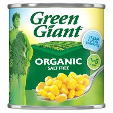 Green Giant Organic Salt Free Sweetcorn 160g