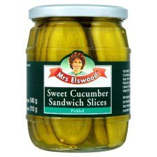Mrs Elswood Sandwich Slices Cucumbers 540g