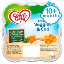 Cow & Gate Creamy Vegetables and Cod 230g 10 Mth+