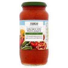 Tesco No Added Sugar Chunky Vegetable Pasta Sauce 500g