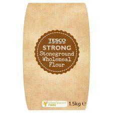 Tesco Strong Stone Ground 100% Wholemeal Bread Flour 1.5kg