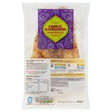 Tesco Garlic and Coriander Naan 2 Pack 260g
