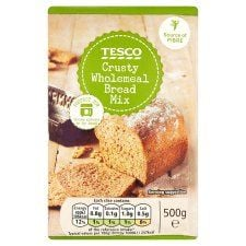 Tesco Crusty Wholemeal Bread Mix 500g