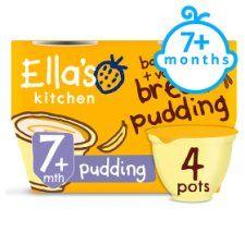 Ella's Kitchen Banana & Vanilla Bread Pudding 4X80g