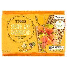 Tesco Sesame Rye Crisp Bread 250g