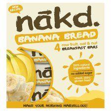 Nakd Banana Bread Bar 4X30g