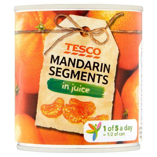 Tesco Mandarin Segments In Juice 298g