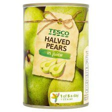 Tesco Halved Pears In Juice 410g