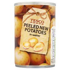 Tesco New Potatoes In Water 300g