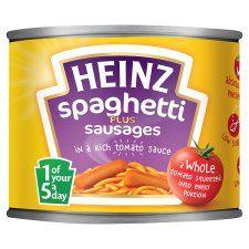 Heinz Spaghetti & Sausages In Tomato Sauce 200g