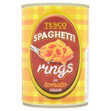 Tesco Spaghetti Rings In Tomato Sauce 410g