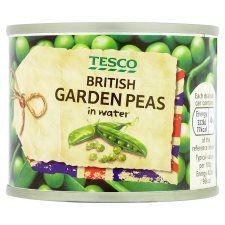 Tesco British Garden Peas In Water 140g
