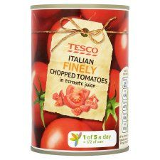 Tesco Italian Finely Chopped Tomatoes 400g