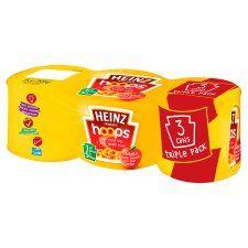 Heinz Spaghetti Hoops In Tomato Sauce 3 X205g