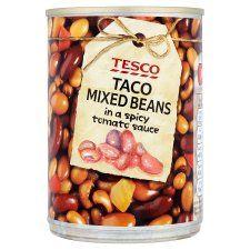 Tesco Taco Mixed Beans Spicy Tomato Sauce 395g
