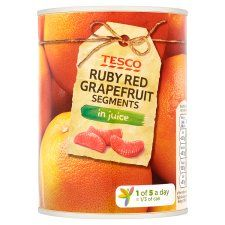Tesco Ruby Red Grapefruit Segments In Juice 538g