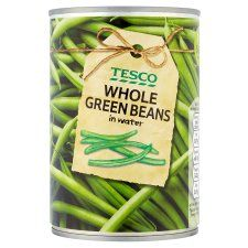 Tesco Whole Green Beans In Water 400g