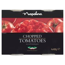 Napolina Chopped Tomatoes 4 X 400g