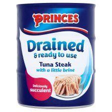 Princes Drained Tuna Steak Brine 3 X 120g