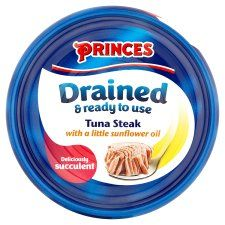 Princes Drained Tuna Steak In Sunflower Oil 120g