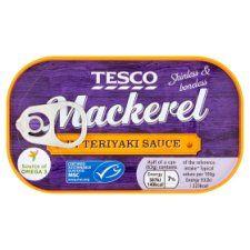 Tesco Skinless Boneless Scottish Mackerel In Teriyaki Sauce 125g