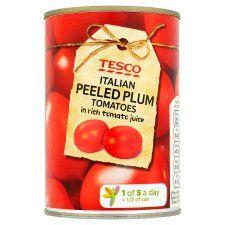 Tesco Peeled Plum Tomatoes 400g