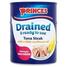 Princes Drained Tuna Steak Oil 3 X120g