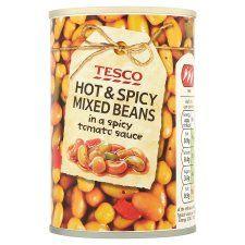 Tesco Hot & Spicy Mixed Beans 290g