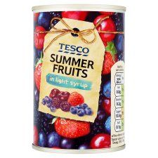 Tesco Summer Fruits In Light Syrup 290g
