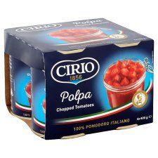 Cirio Chopped Tomatoes 4 X400g