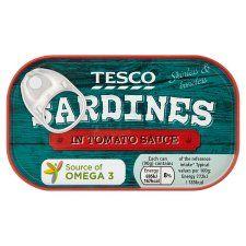 Tesco Skinless Boneless Sardines In Tomato Sauce 90g