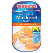 Princes Skinless Boneless Mackerel Fillets Hot Chilli Dressing 125g