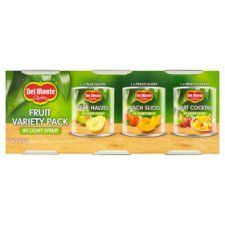 Del Monte Fruit In Light Syrup Variety Pack 3 X227g