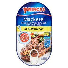 Princes Peppered Smoked Boneless Mackerel Fillets In Oil 190g