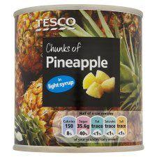 Tesco Pineapple Chunks In Light Syrup 432g