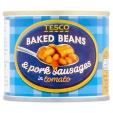 Tesco Baked Beans & Pork Sausages In Tomato Sauce 220g