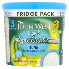 John West Spreadables Fridge Pack Light Tuna Mayonnaise 255g