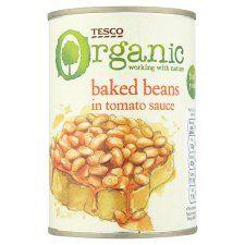 Tesco Organic Baked Beans In Tomato Sauce 420g