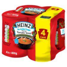 Heinz No Added Sugar Tomato Soup 4 Pack X 400g