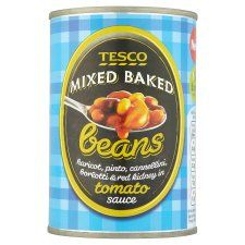 Tesco Mixed Baked Beans In Tomato Sauce 415g