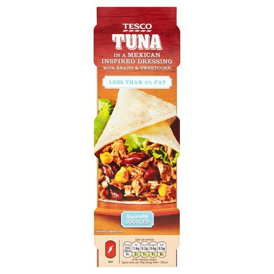 Tesco Low Fat Tuna In Mexican Dressing 3X80g
