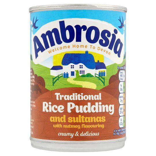 Ambrosia Creamed Rice Sultanas & Nutmeg 400g Tin