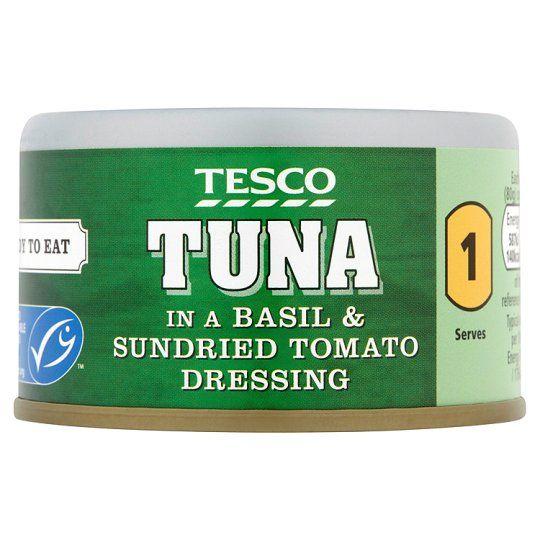 Tesco Tuna Basil & Tomato 80g
