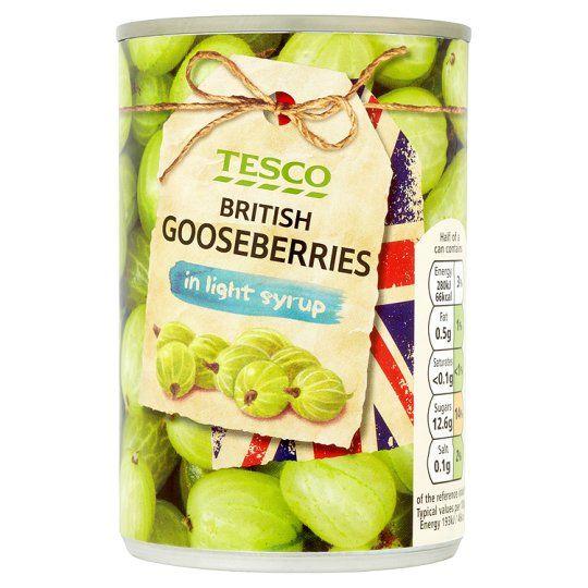 Tesco British GooseBerries In Light Syrup 290g