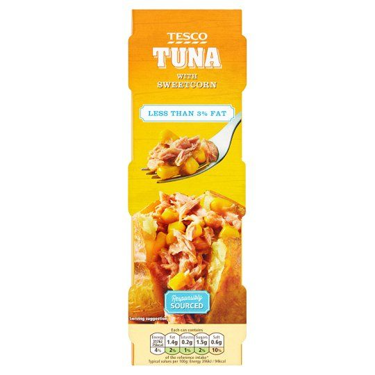 Tesco Low Fat Tuna Sweetcorn 3X80g