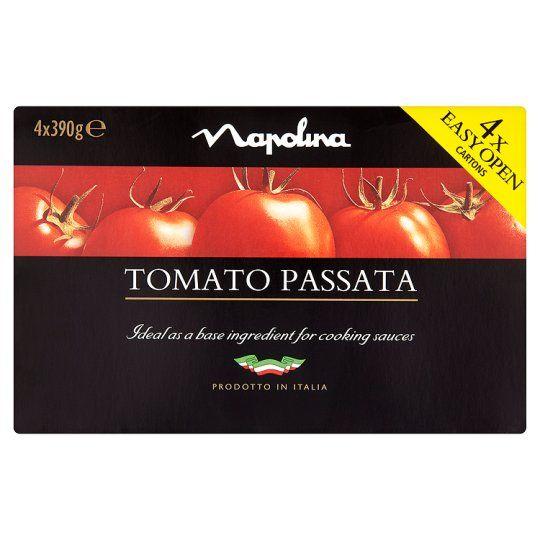Napolina Sieved Tomato Passata 4 X390g