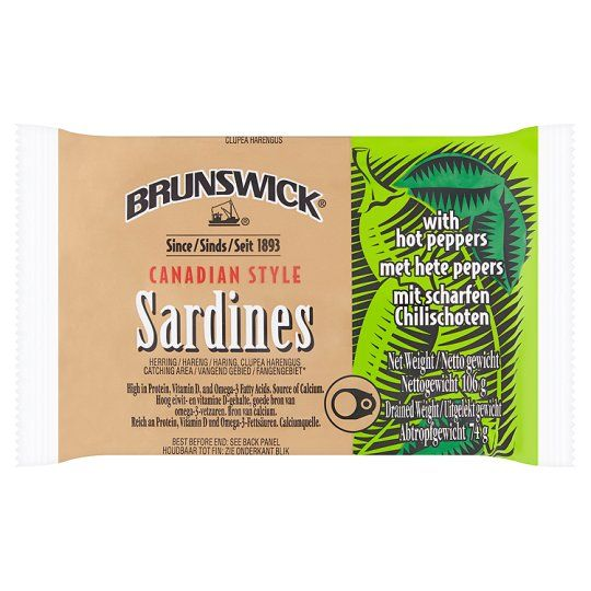 Brunswick Sardines With Hot Peppers 106g