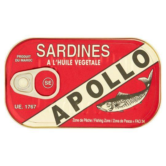 Apollo Sardines In Vegetable Oil 125g