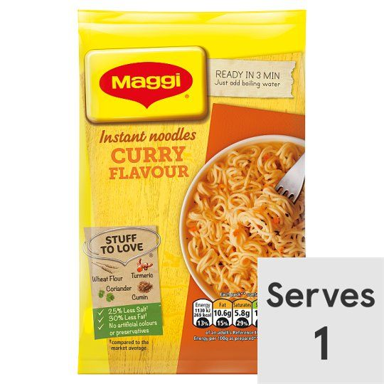 Maggi 3 Minute Noodles Curry Flavour 59g